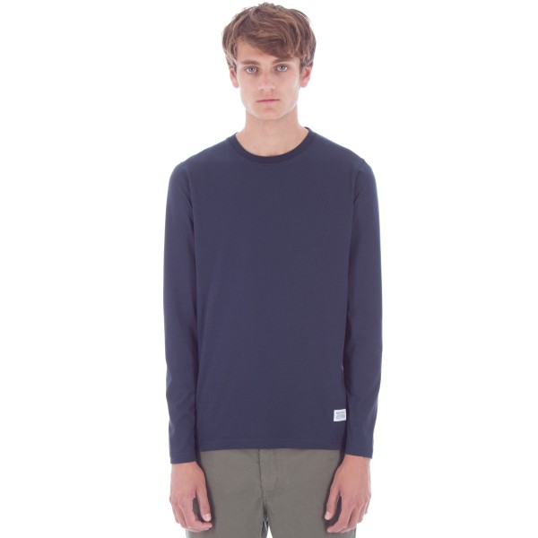 Norse Projects Niels Basic Long Sleeve T-Shirt (Navy)