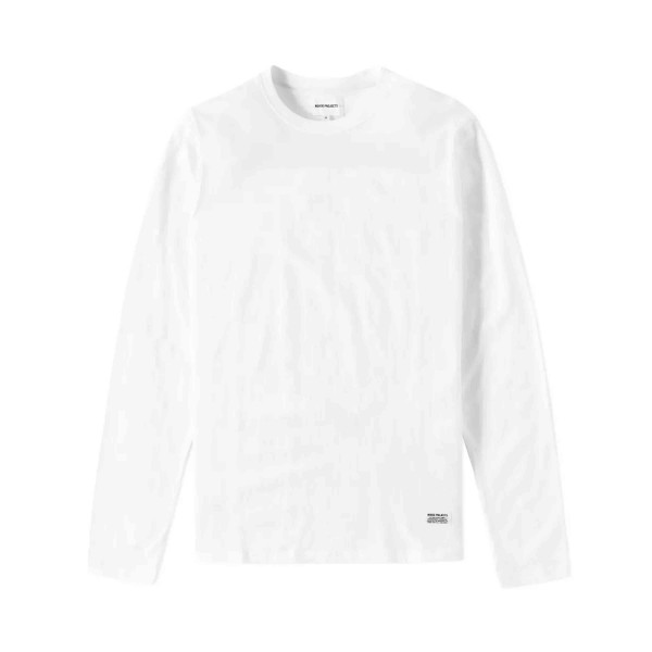 Norse Projects Niels Basic Long Sleeve T-Shirt (White)