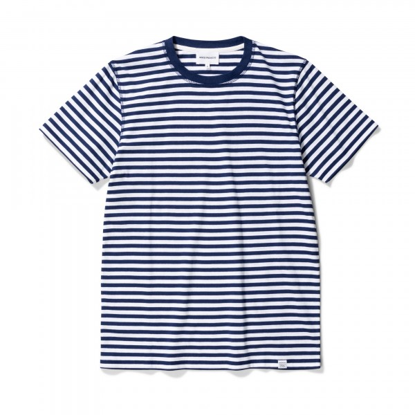 Norse Projects Niels Classic Stripe T-Shirt (Dark Navy/White)