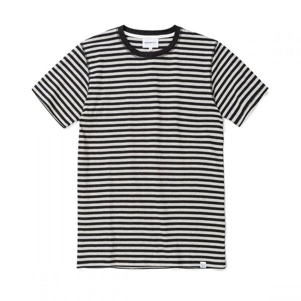 Norse Projects Niels Classic Stripe T-Shirt (Light Grey Melange/Charcoal)