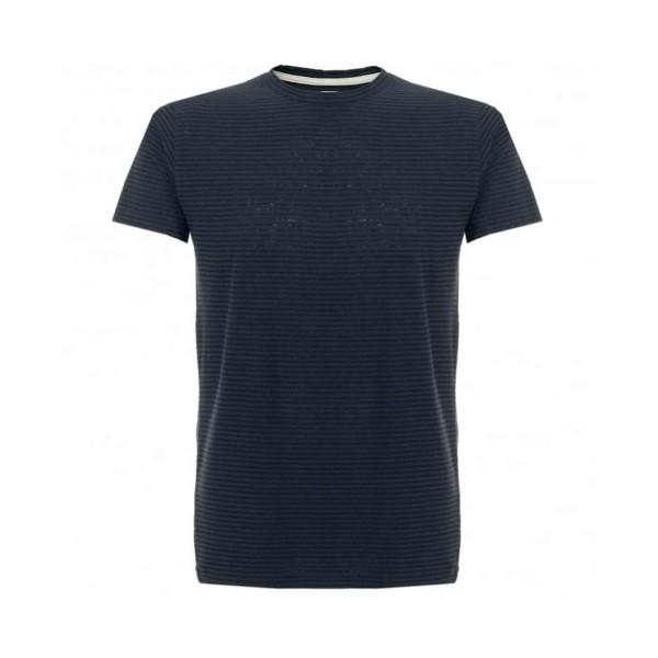 Norse Projects Niels Cotton Linen Stripe T-Shirt (Black)