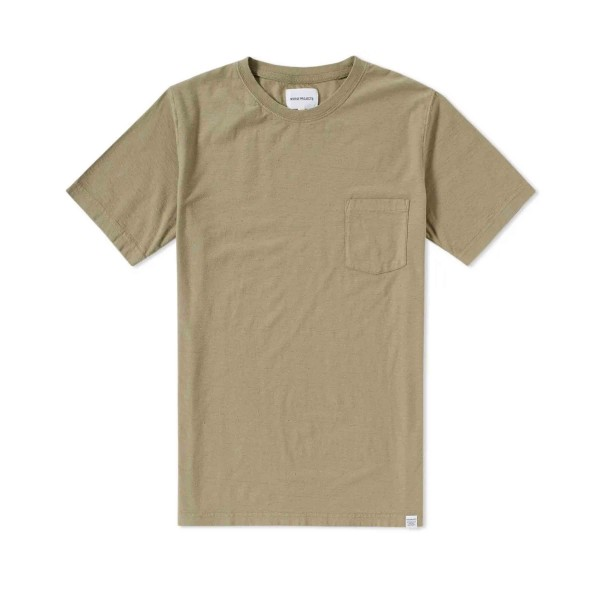 Norse Projects Niels Pocket Boucle T-Shirt (Moss Green)