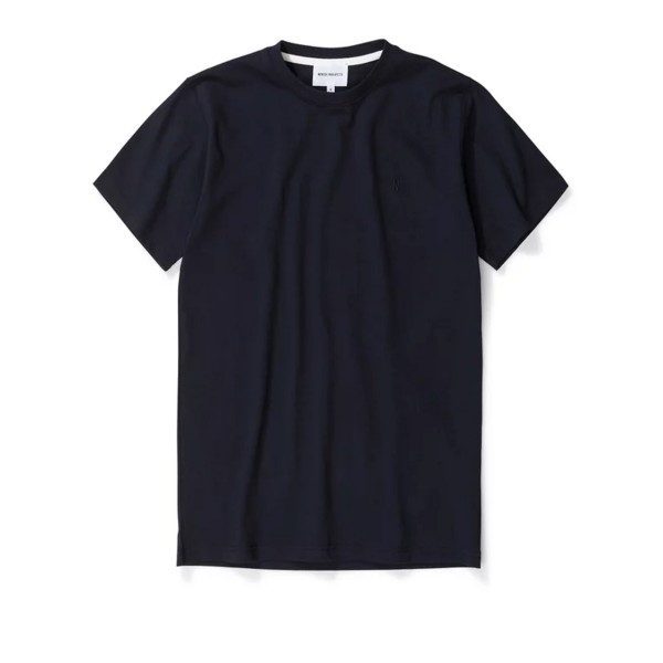 Norse Projects Niels Standard Logo Patch T-Shirt (Dark Navy)