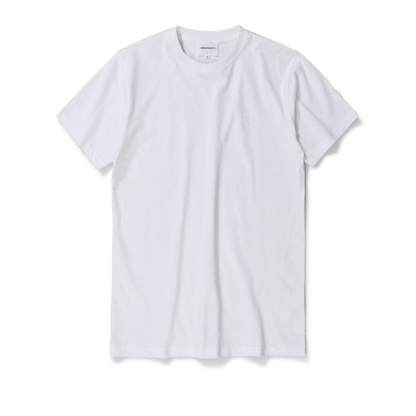 Norse Projects Niels Standard Logo Patch T-Shirt (White)