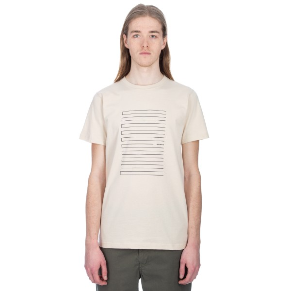 Norse Projects Niels Stripe Screen Logo T-Shirt (Sand)