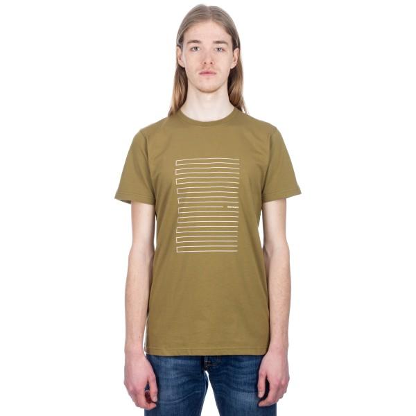 Norse Projects Niels Stripe Screen Logo T-Shirt (Warm Brass)