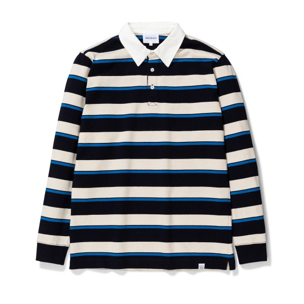 Norse Projects Ruben Compact Cotton Polo Shirt (Himmel Blue)