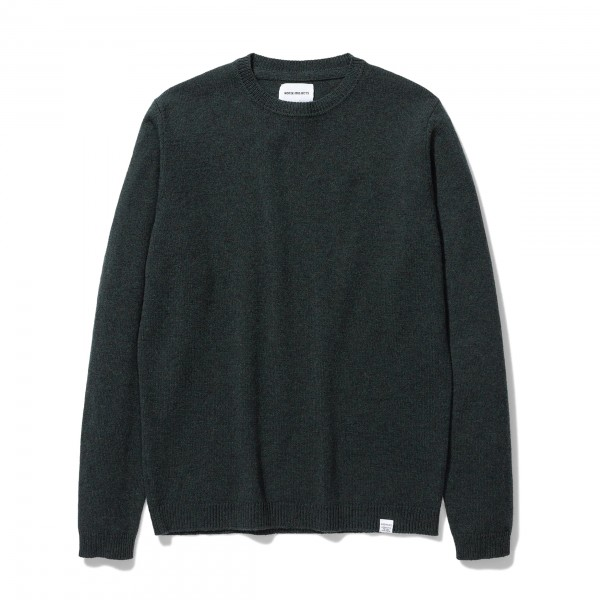 Norse Projects Sigfred Lambswool Jumper (Forest Green)