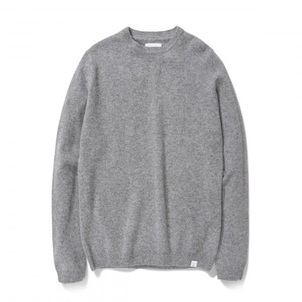 Norse Projects Sigfred Lambswool Jumper (Grey Melange)
