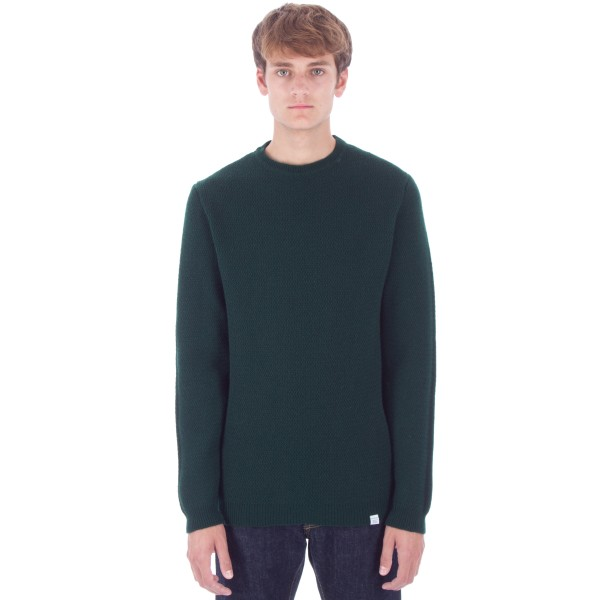 Norse Projects Sigfred Lambswool Racked Jumper (Moss)