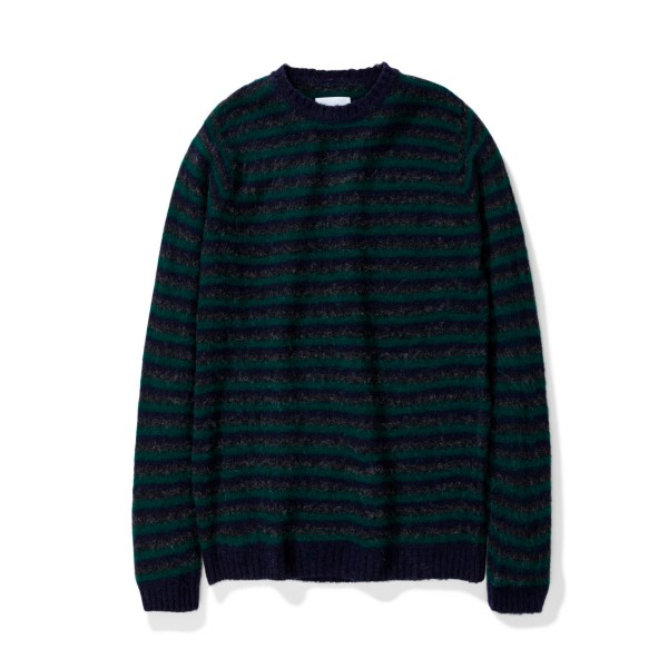 Norse Projects Sigfried Brushed Stripe Jumper (Dark Navy)