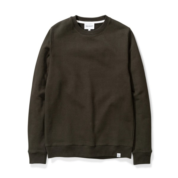 Norse Projects Vagn Classic Crew Neck Sweatshirt (Beech Green)