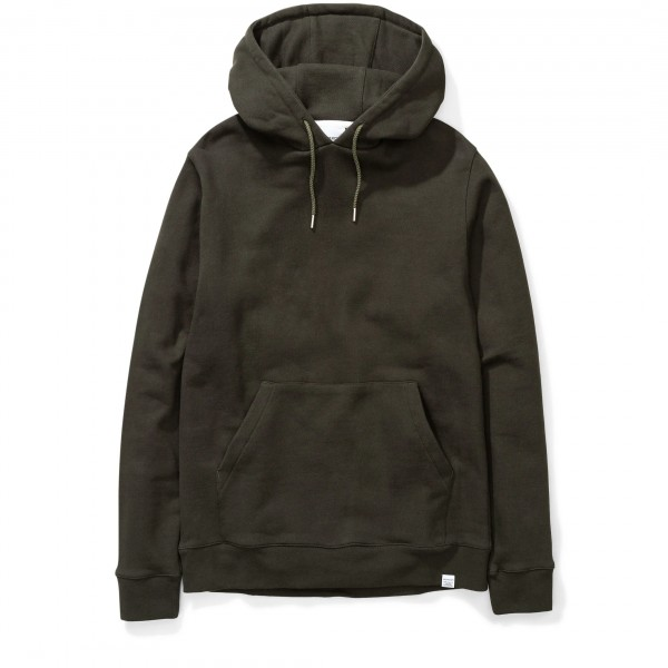 Norse Projects Vagn Classic Pullover Hooded Sweatshirt (Beech Green)