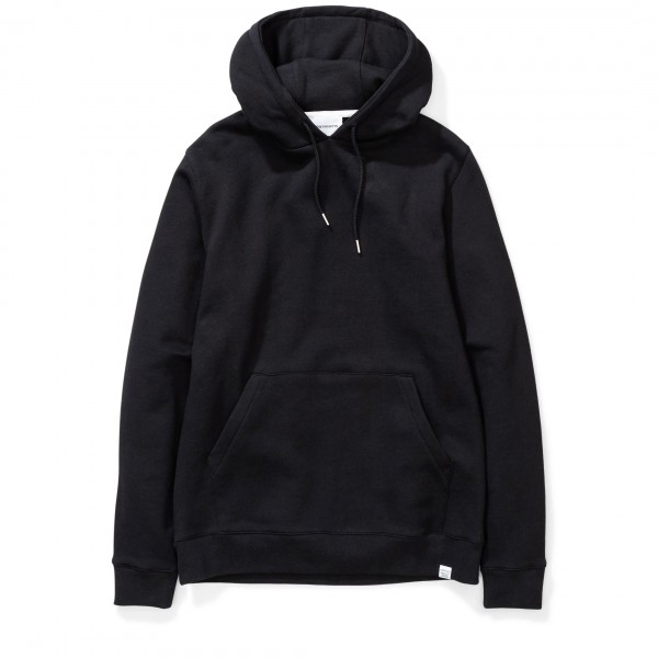 Norse Projects Vagn Classic Pullover Hooded Sweatshirt (Black)