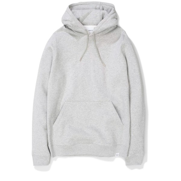 Norse Projects Vagn Classic Pullover Hooded Sweatshirt (Light Grey Melange)