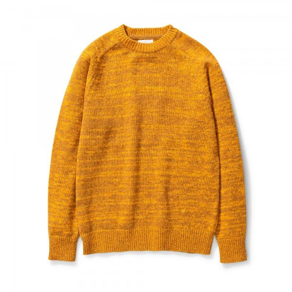 Norse Projects Viggo Crew Neck Neps Sweater (Montpellier Yellow)