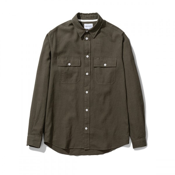 Norse Projects Villads 50/50 Shirt (Ivy Green)