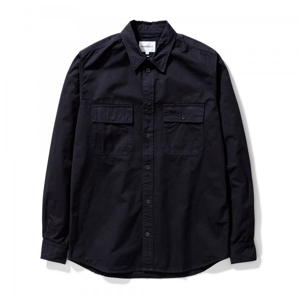 Norse Projects Villads Light Twill Shirt (Dark Navy)