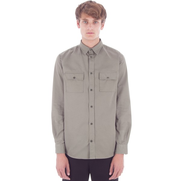 Norse Projects Villads Twill Shirt (Dried Olive)