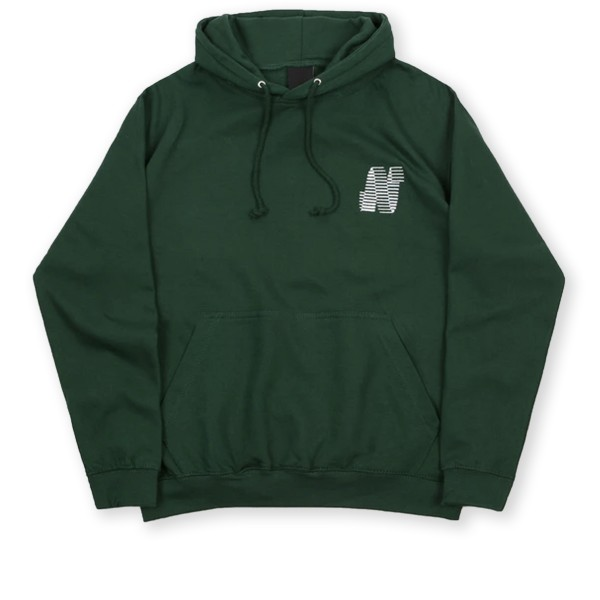 North N Logo Pullover Hooded Sweatshirt (Forest Green)