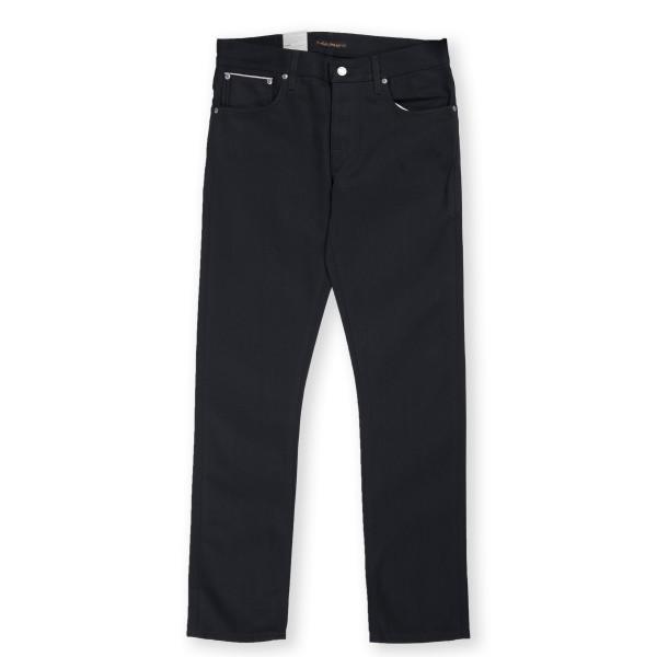 Nudie Jeans Grim Tim Denim Jeans (Dry Black Selvage)