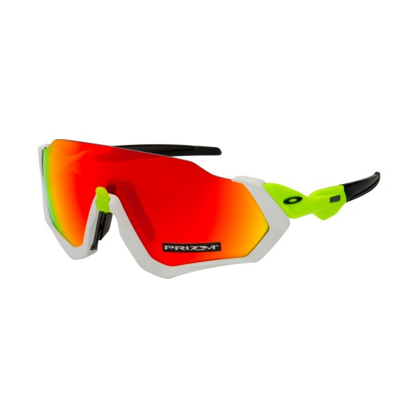 Oakley Flight Jacket Glasses (White/Prizm Ruby)