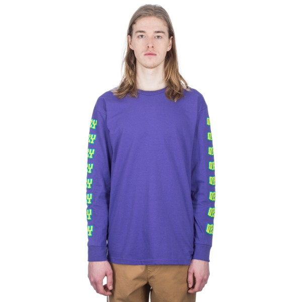 Obey Better Days Long Sleeve T-Shirt (Purple)