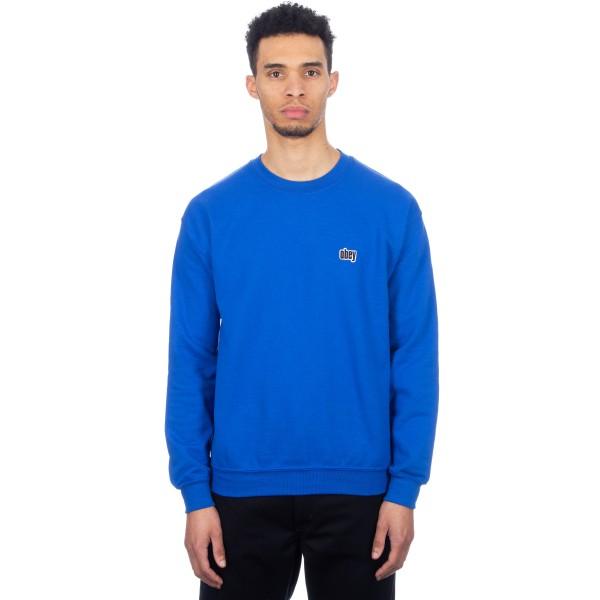 Obey Bond Crew Neck Sweatshirt (Royal Blue)