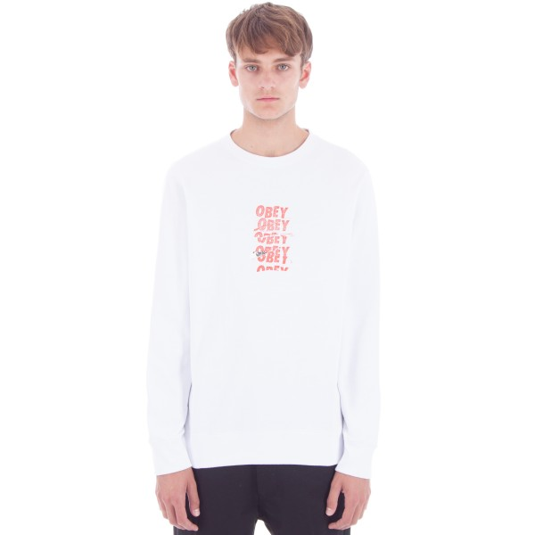 Obey Can't Help You Crew Neck Sweatshirt (White)