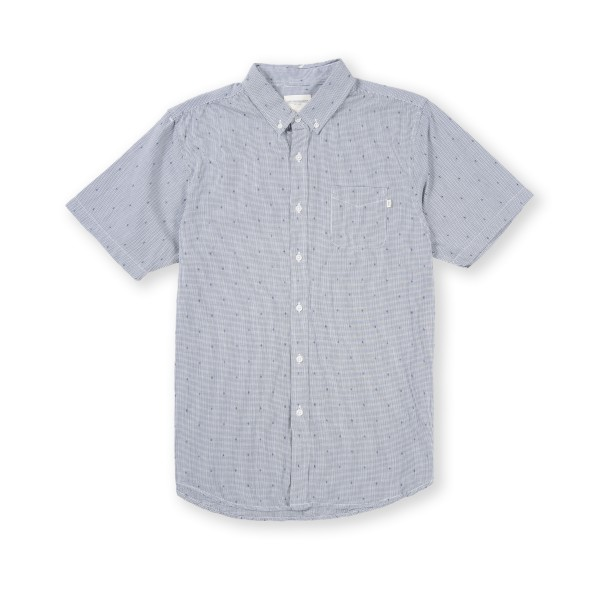 Obey Crossline Woven S/S Shirt (Navy)