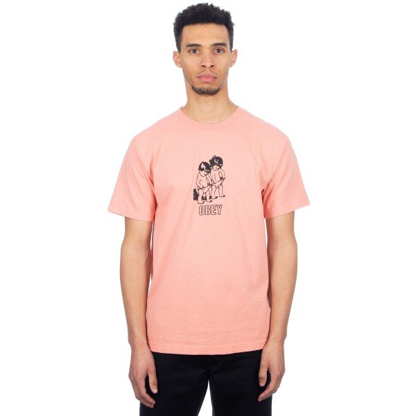 Obey Curious Kiddo's T-Shirt (Coral)