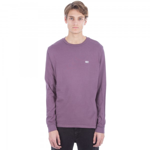 Obey New Times Micro Long Sleeve T-Shirt 'Pigment Pack' QS (Dusty Eggplant)