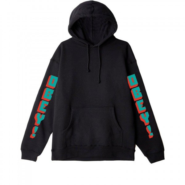 Obey New World 2 Pullover Hooded Sweatshirt (Black)