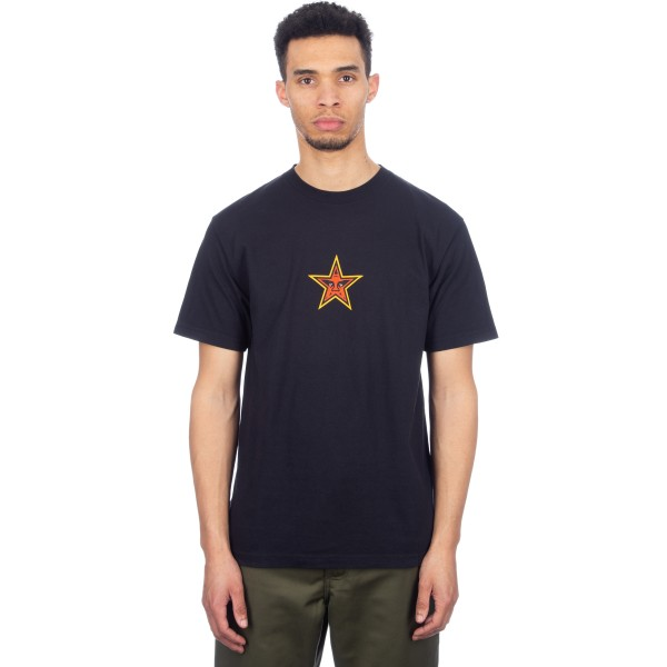 Obey Star Face T-Shirt (Off Black)