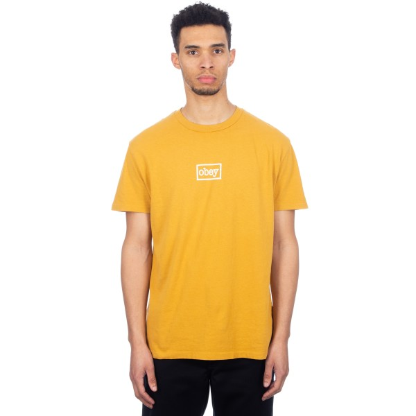 Obey Typewriter T-Shirt (Dusty Gold)