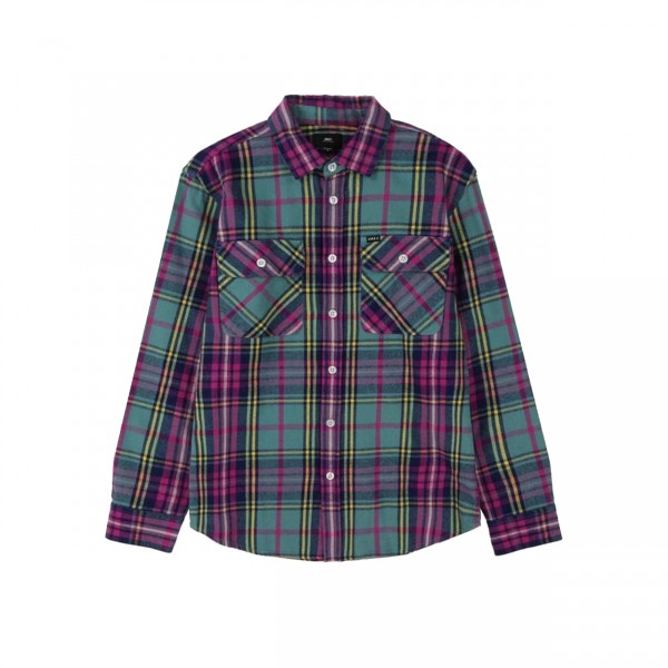 Obey Nelson Woven Shirt (Light Sage Multi)