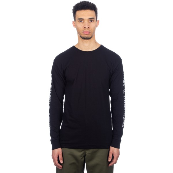 Obey Worldwide Outline Long Sleeve T-Shirt (Black)