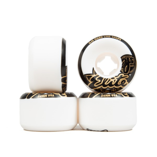 OJ Wheels Elite Hardline 99a Skateboard Wheels 54mm (White)