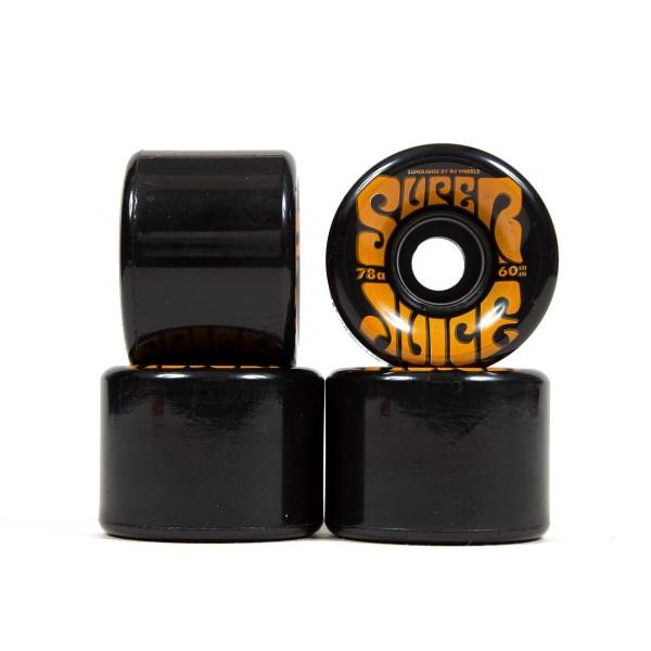 OJ Wheels Super Juice 78a Soft Skateboard Wheels 60mm (Black)
