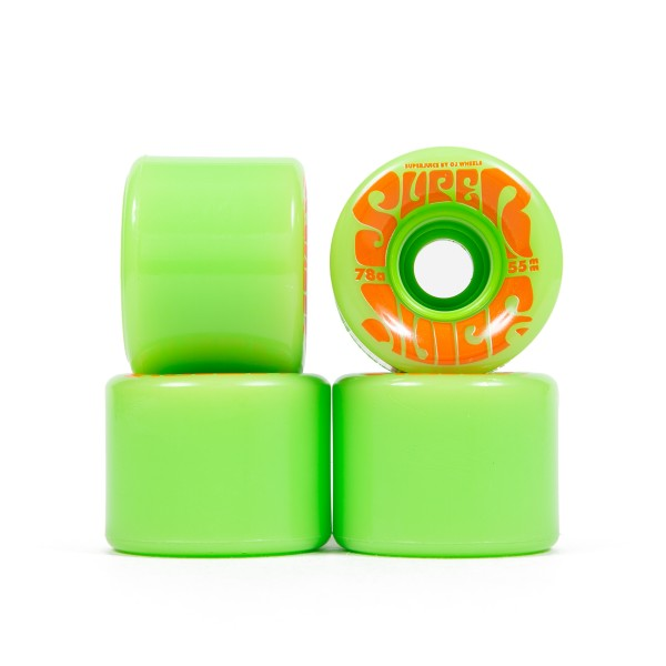 OJ Wheels Mini Super Juice 78a Soft Skateboard Wheels 55mm (Green)