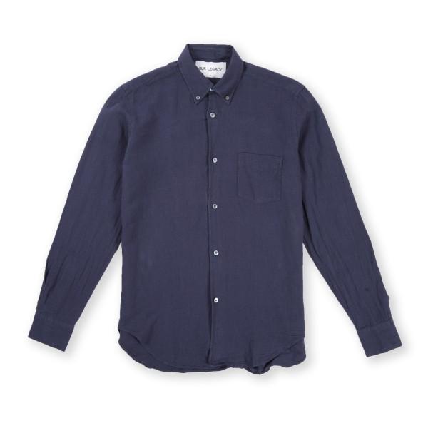 Our Legacy 1950's Button Down Shirt (Purple Blue)