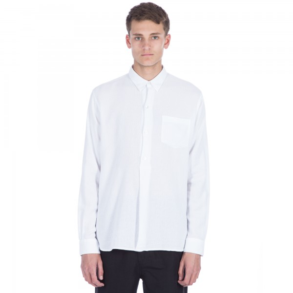 Our Legacy Fine Overshirt (White Giro Inglese)