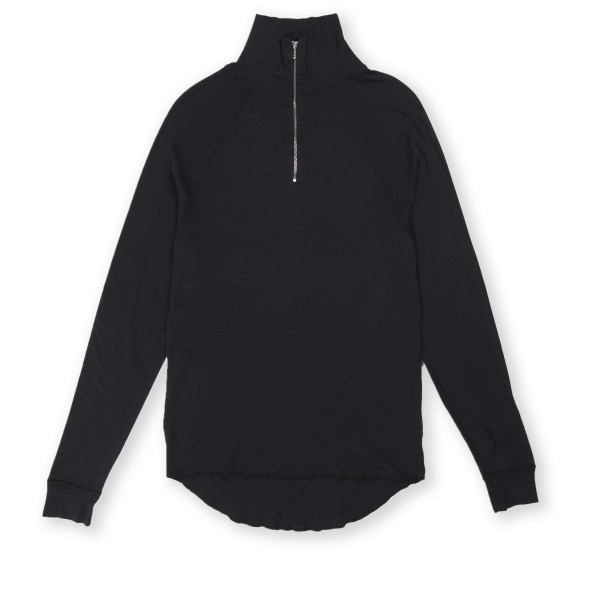 Our Legacy Half Zip Funnel Pullover Sweatshirt (Washed Black)