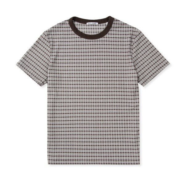 Our Legacy Perfect T-Shirt (Check Rib Brown Beige)