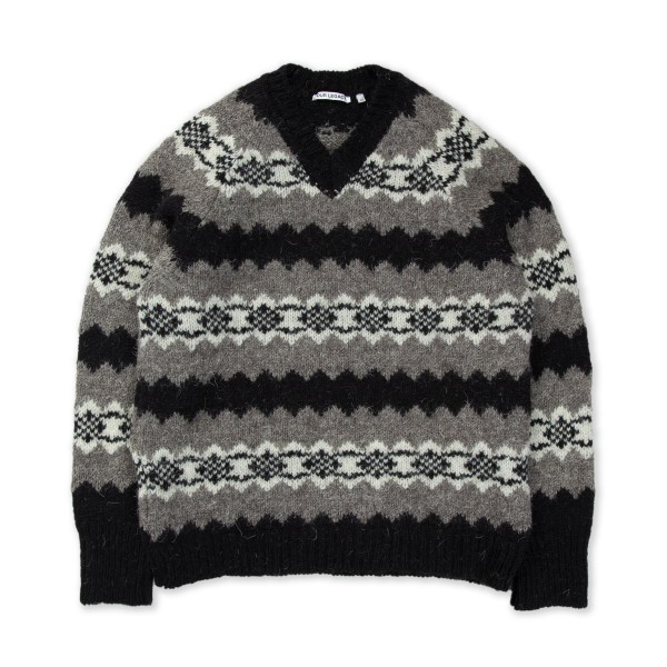 Our Legacy Raglan V-Neck Jumper (Greenland Stripe)