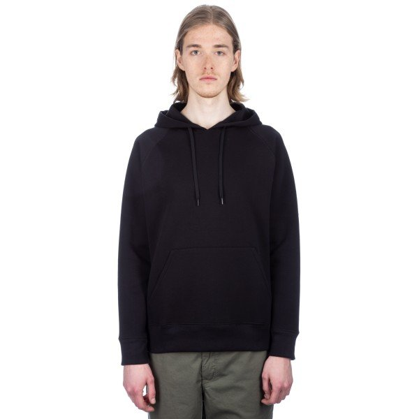 Our Legacy Single Pullover Hooded Sweatshirt (Black Scuba)
