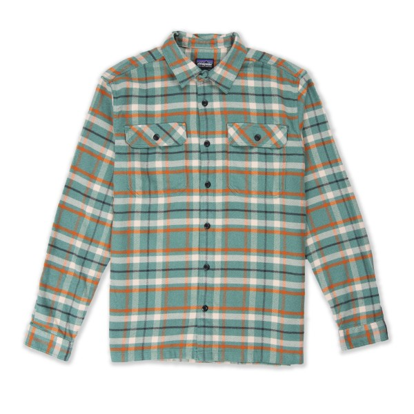 Patagonia Fjord Flannel Long Sleeve Shirt (Independence: Eelgrass Green)