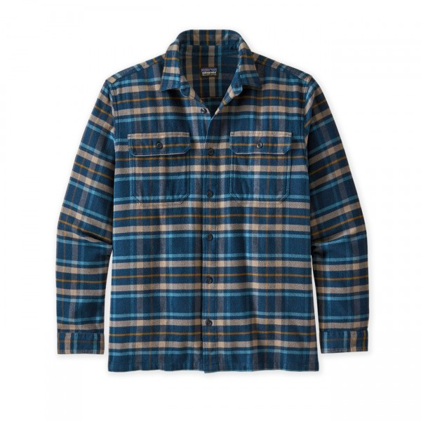 Patagonia Fjord Flannel Long Sleeve Shirt (Independence: New Navy)