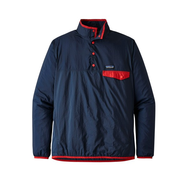 Patagonia Houdini Snap-T Pullover Jacket (Stone Blue w/Neo Navy)