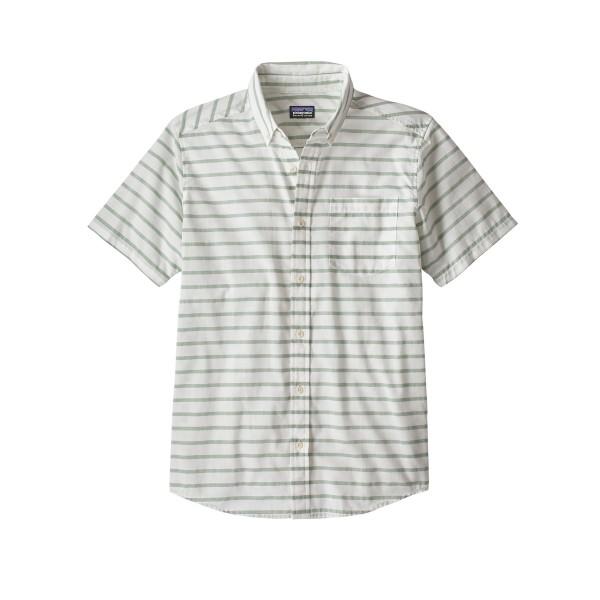 Patagonia Lightweight Bluffside Shirt (Terrain Stripe: Celadon)
